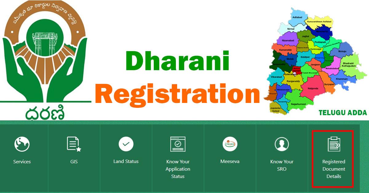 Telangana Dharani Registration Process