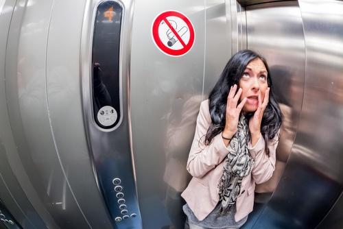 mirror in lift