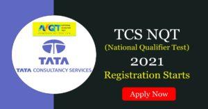 tcs nqt registration graduation 2019 & 2020
