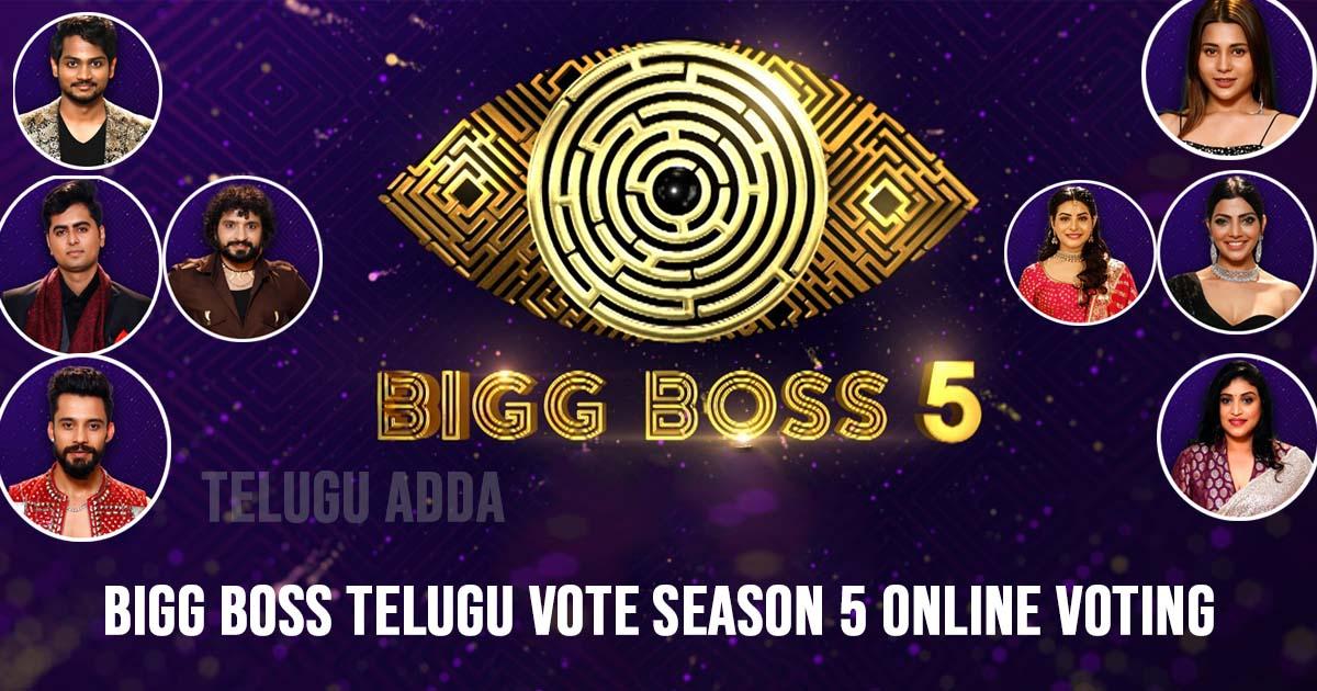 Bigg Boss Telugu Vote Season 5 Online Voting